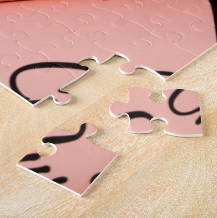Only Curls Jigsaw Puzzle - Limited Edition Pink - Only Curls