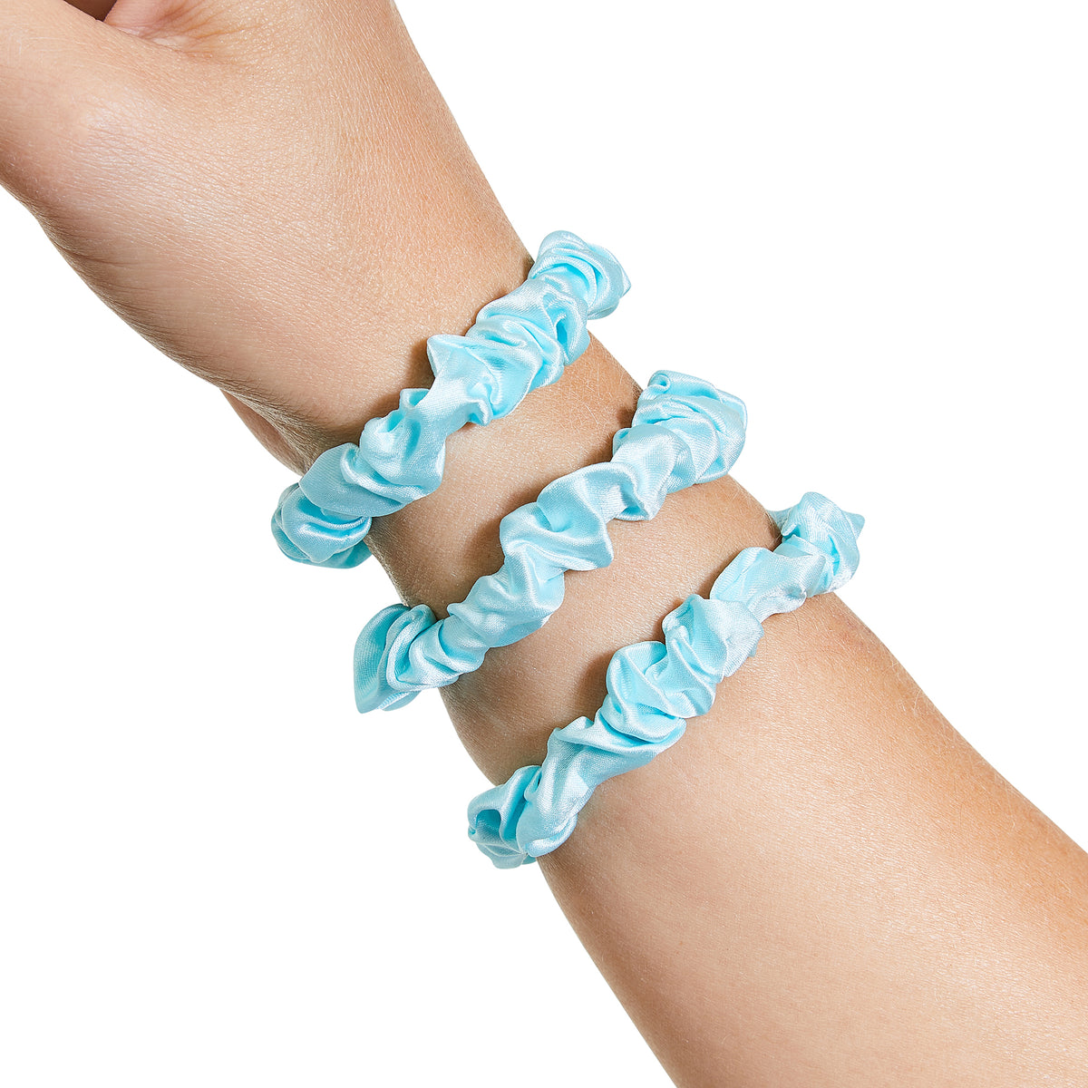 Only Curls Silk Scrunchies - Aqua Mini - Only Curls