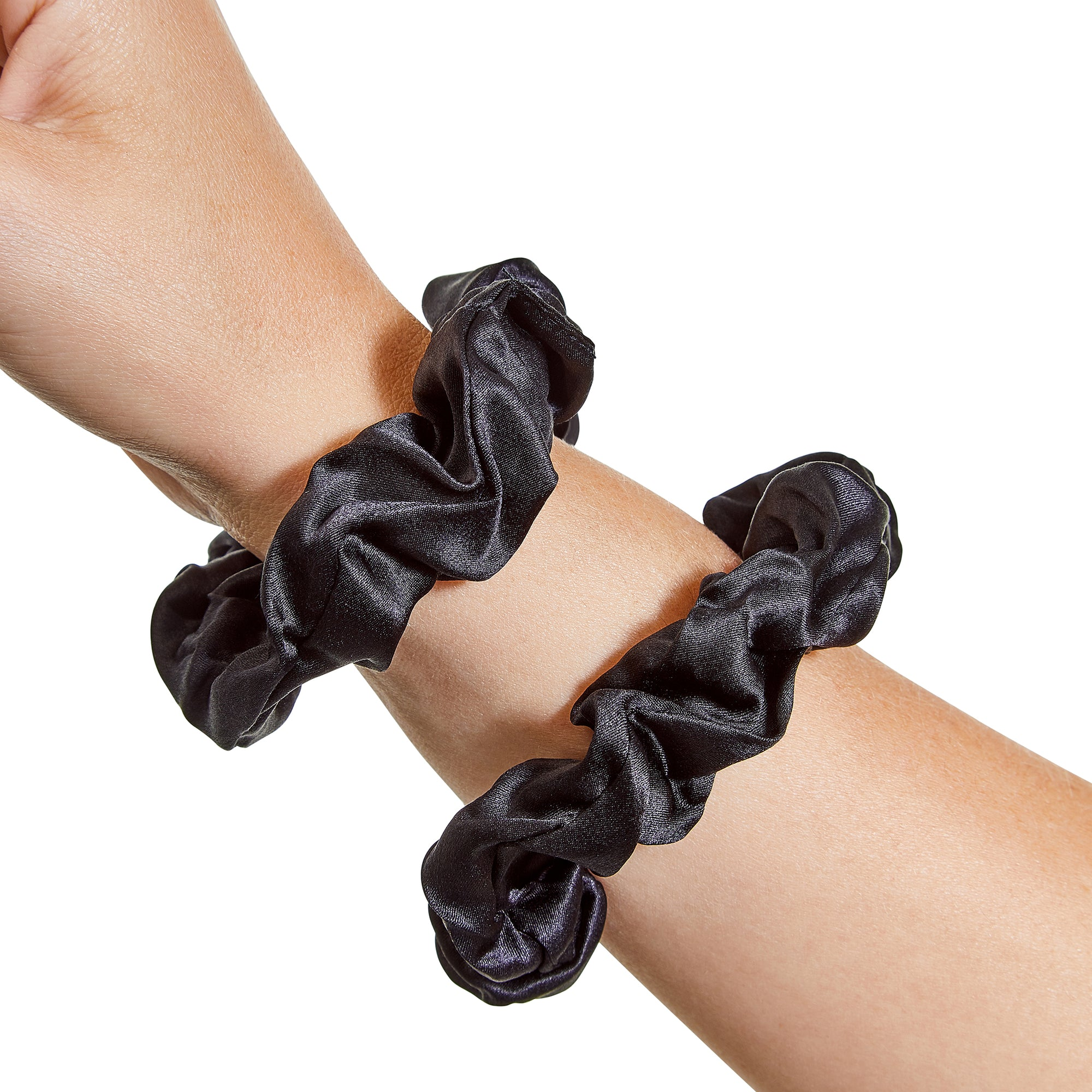 Only Curls Silk Scrunchies Black - Only Curls