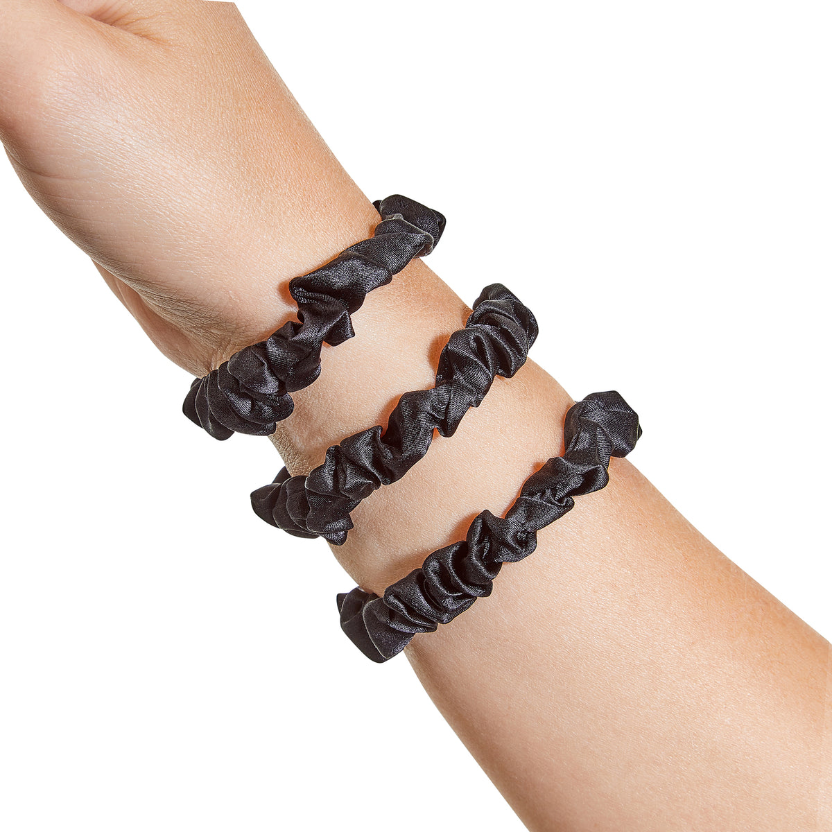 Only Curls Silk Scrunchies - Black Mini - Only Curls