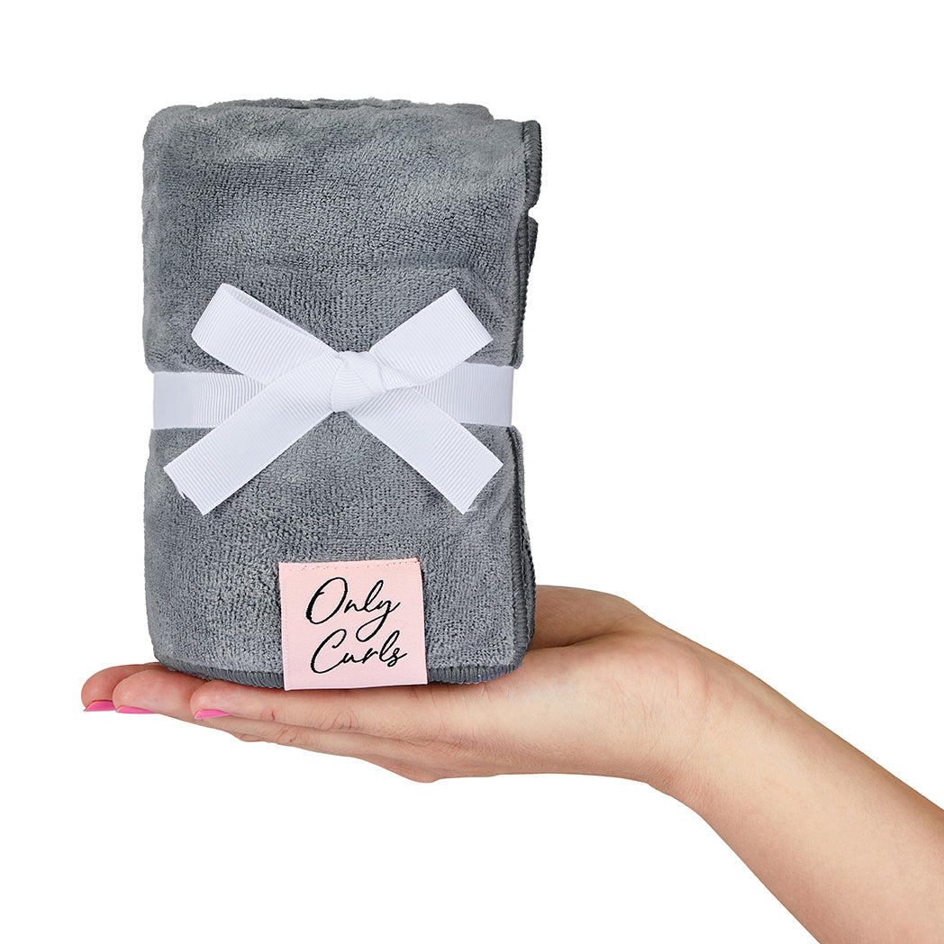 Only Curls Microfibre Hair Towel - Grey - Only Curls