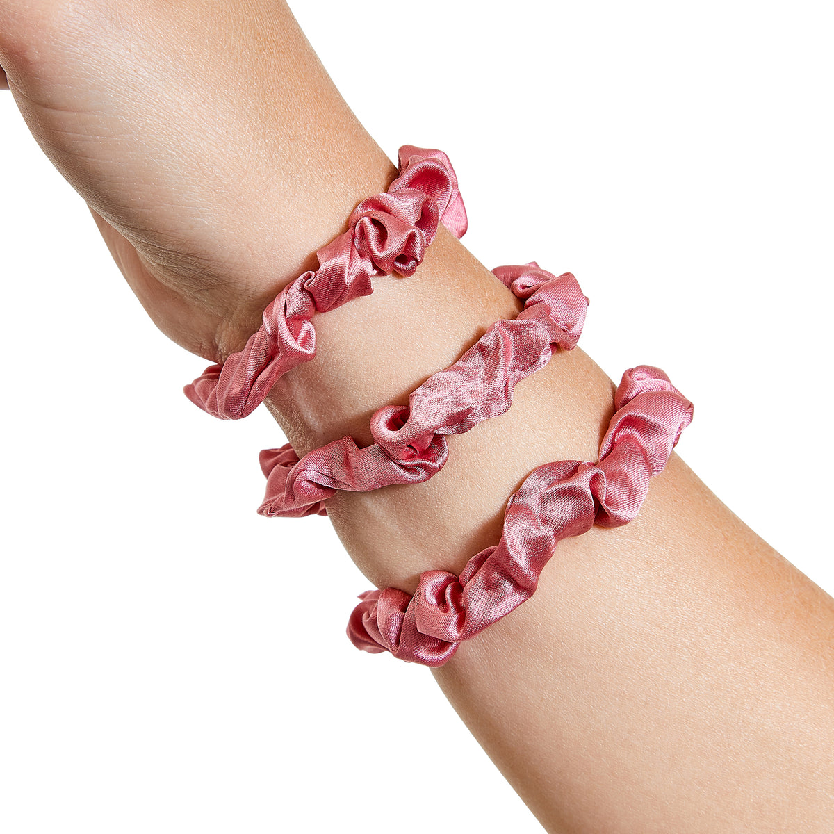 Only Curls Silk Scrunchies - Dusty Rose Mini - Only Curls