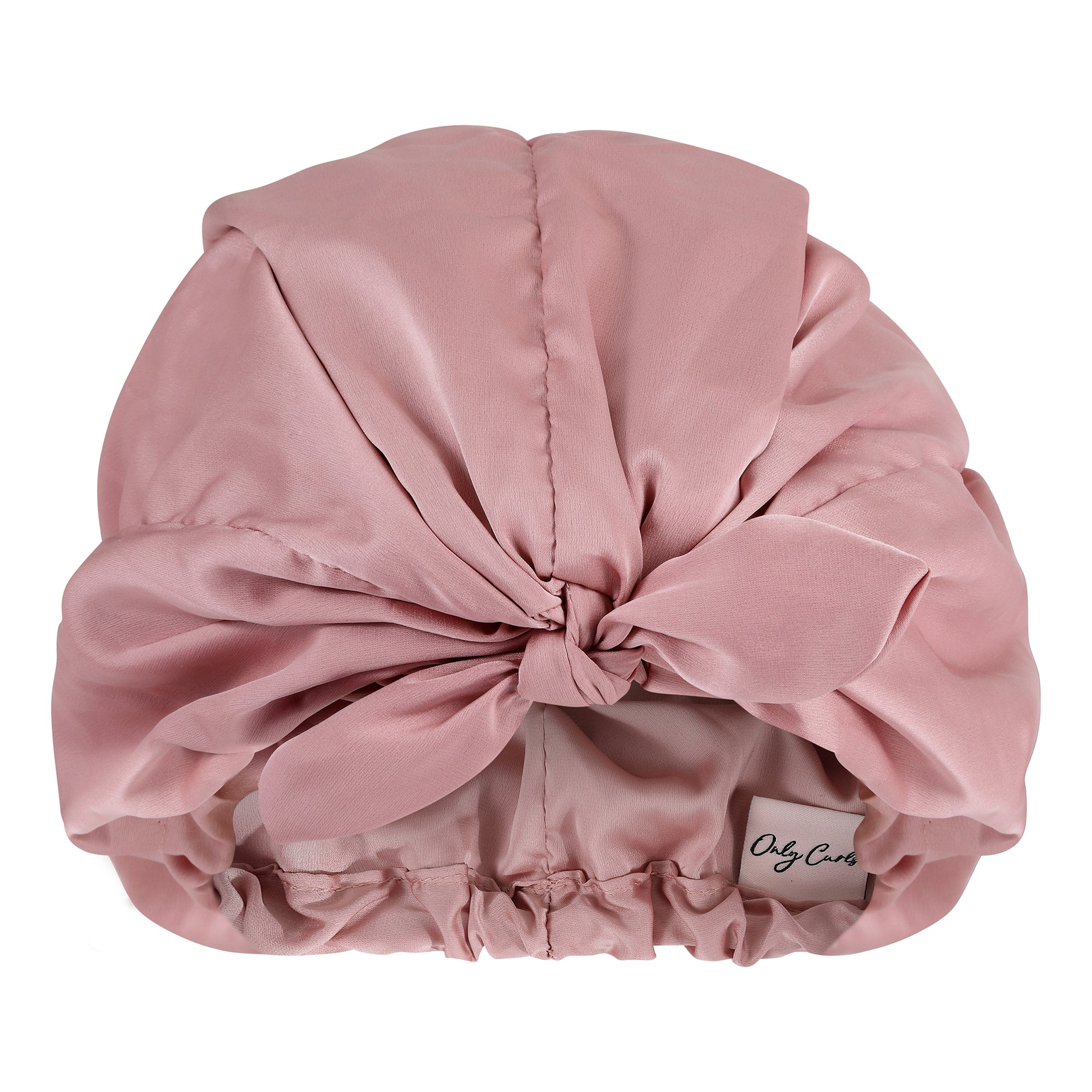 Only Curls Satin Sleep Turban - Dusty Rose - Only Curls