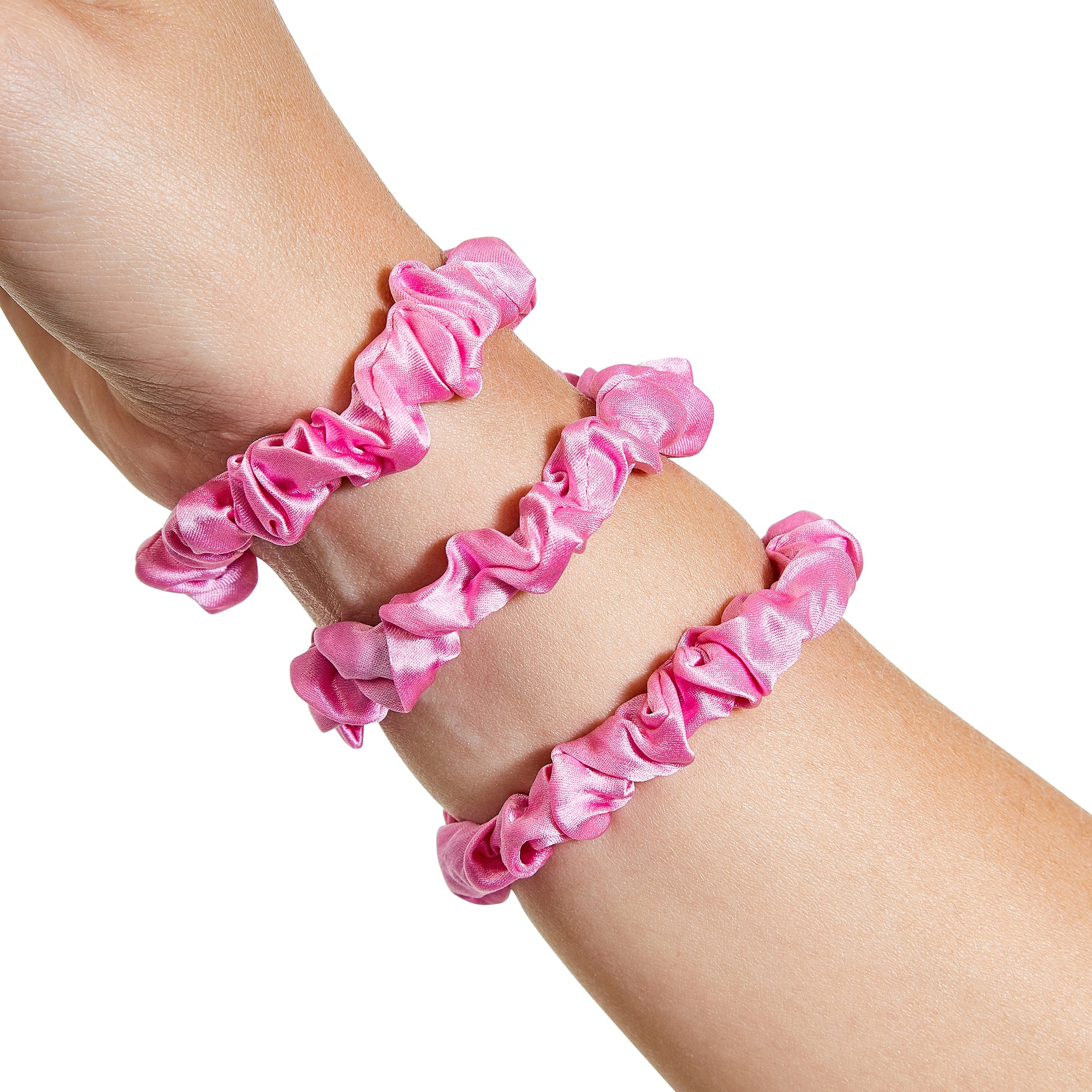 Only Curls Silk Scrunchies - Hot Pink Mini - Only Curls
