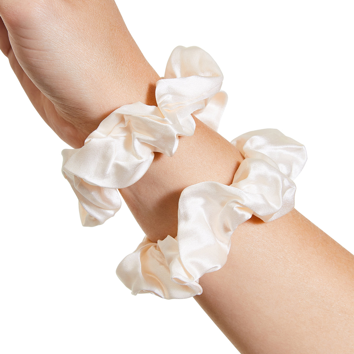Only Curls Silk Scrunchies Ivory - Only Curls
