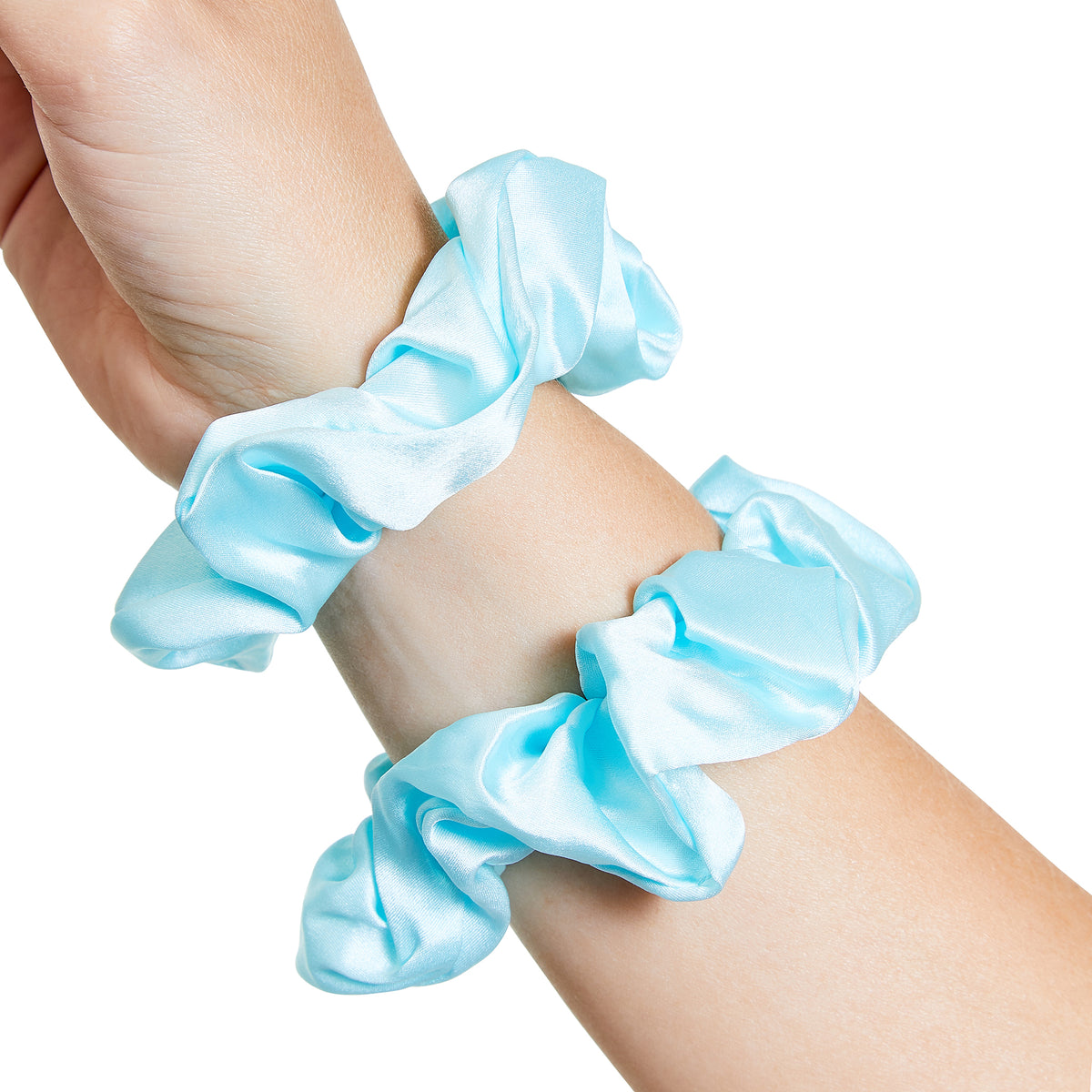 Only Curls Silk Scrunchies Aqua - Only Curls