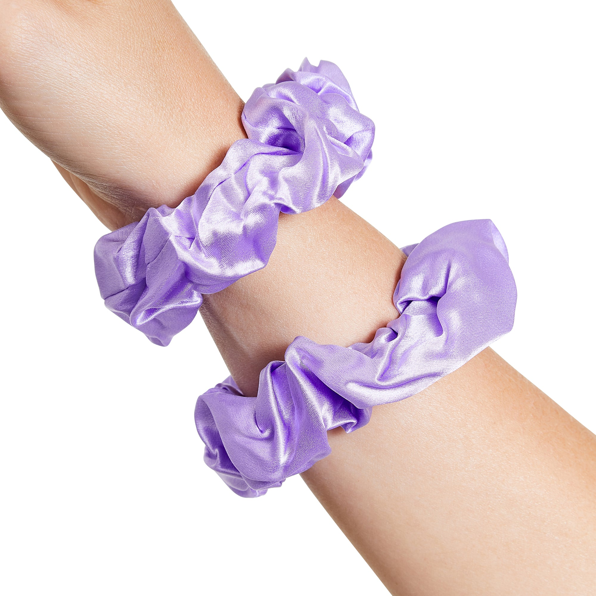 Only Curls Silk Scrunchies Lavender - Only Curls