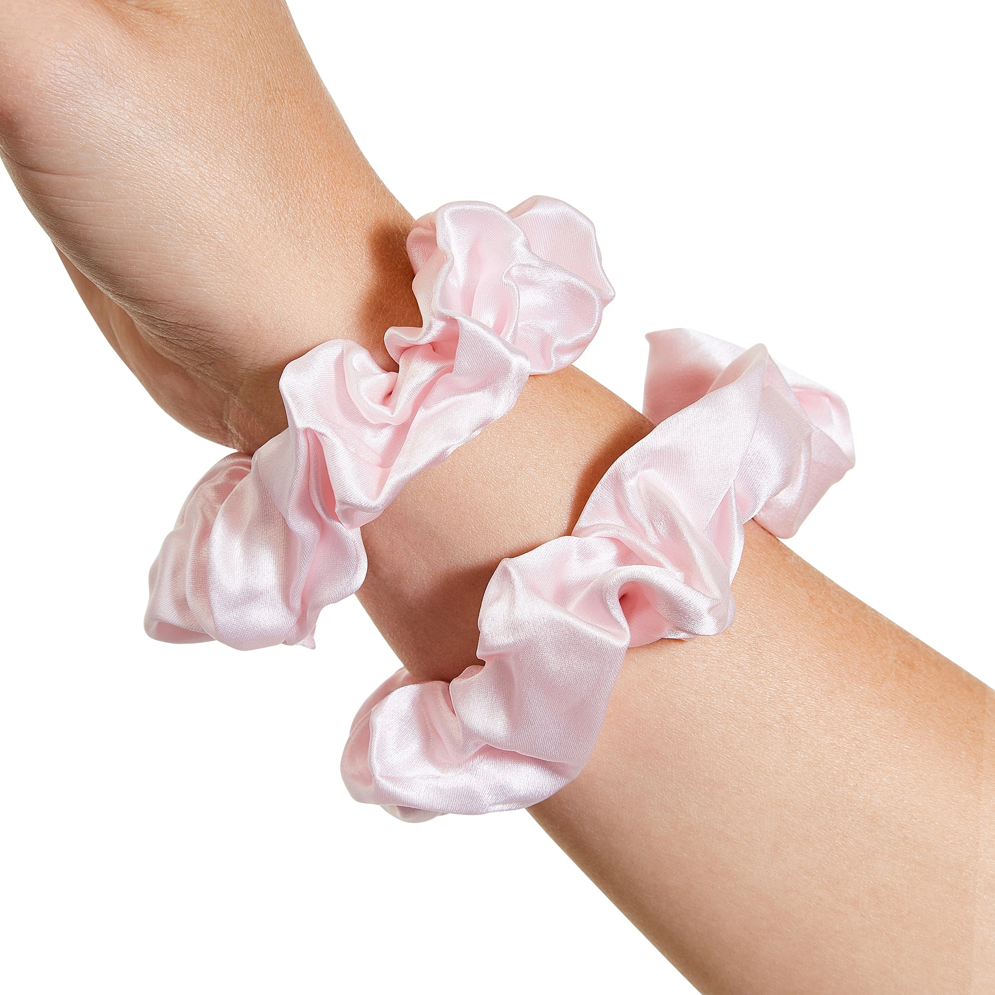 Only Curls Silk Scrunchies Pink - Only Curls