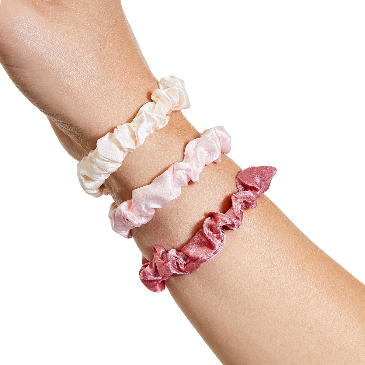 Only Curls Silk Scrunchies Multi Pack Mini - Rose - Only Curls