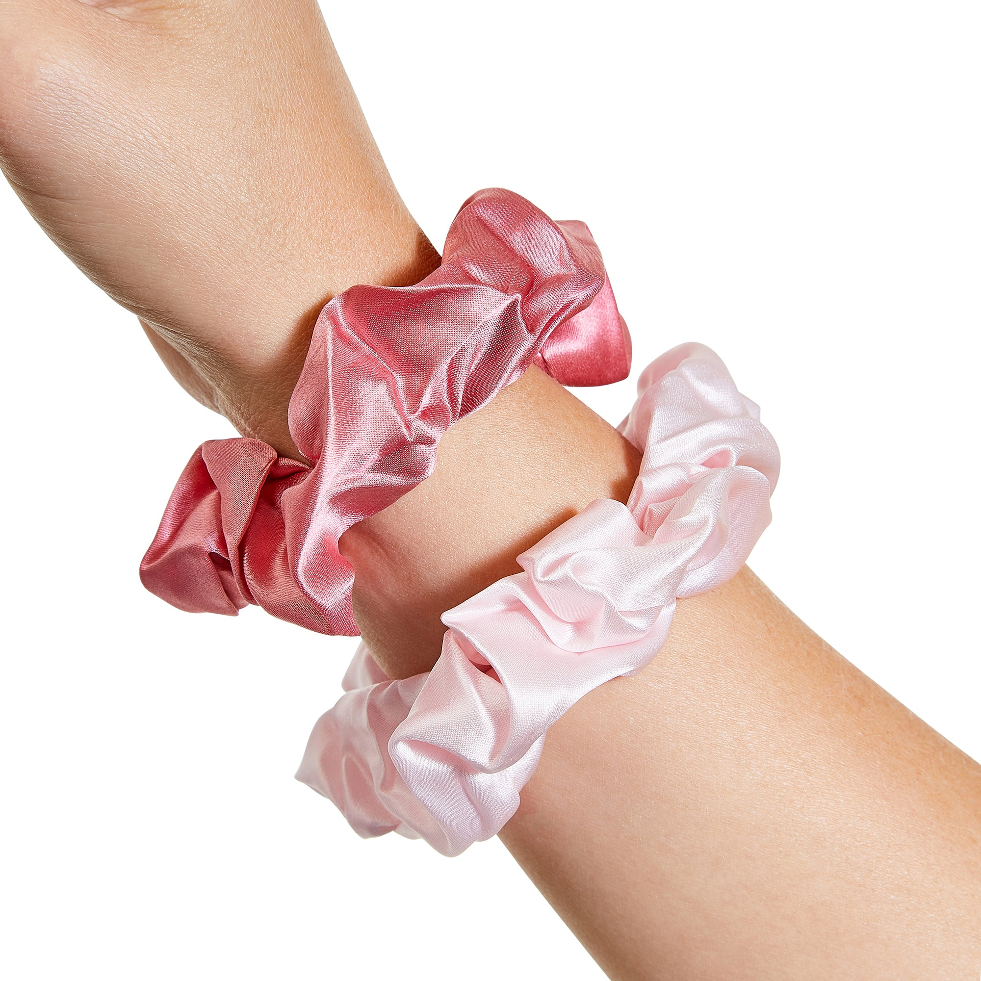 Only Curls Silk Scrunchies Multi Pack - Rose - Only Curls