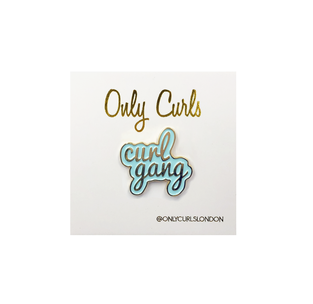 Only Curls Pin Badge - Curl Gang - Only Curls