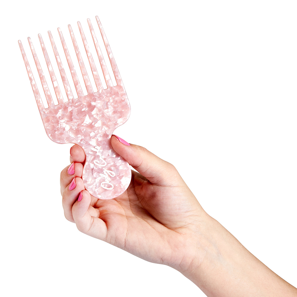 Only Curls Pink Shimmer Afro Comb - Only Curls