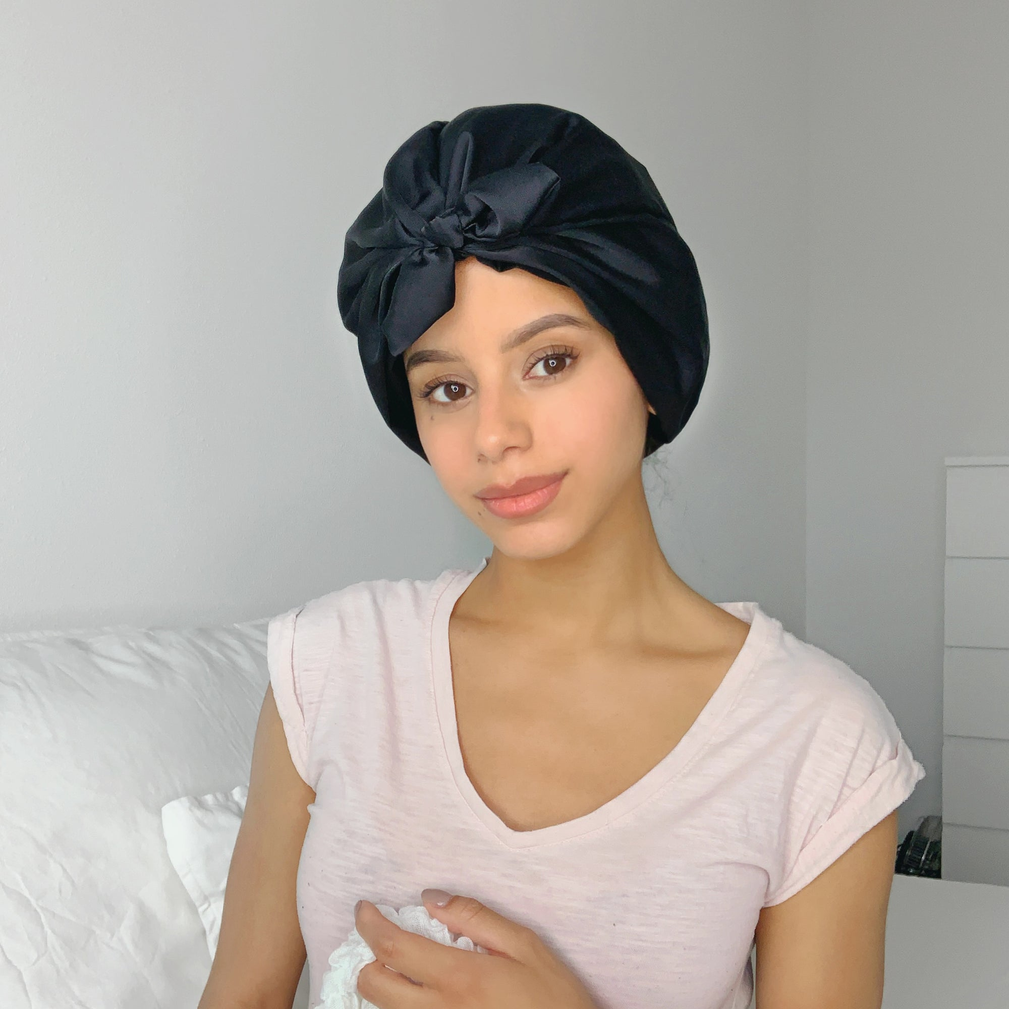 Only Curls Satin Sleep Turban - Slate Grey - Only Curls