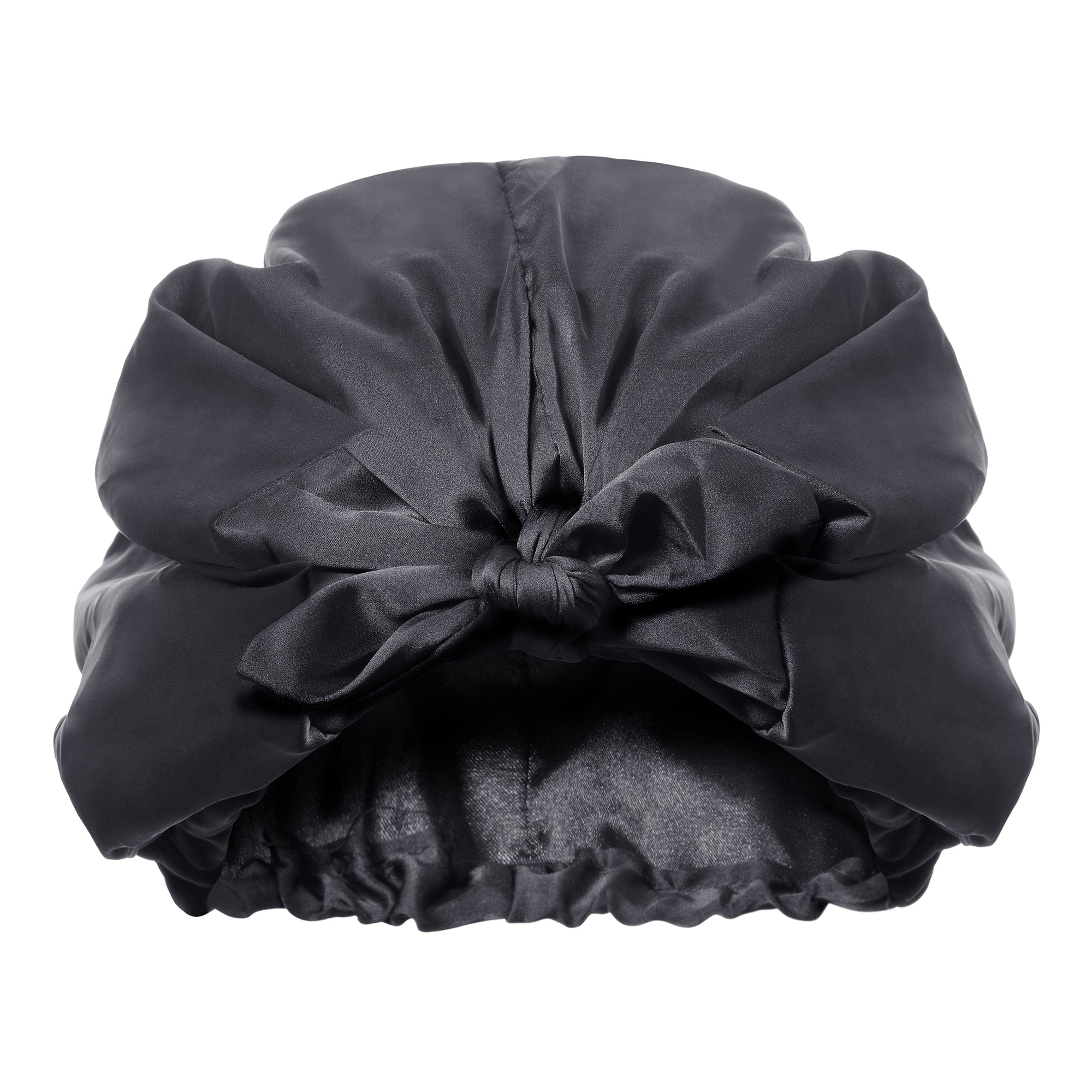 Only Curls Satin Sleep Turban - Black - Only Curls