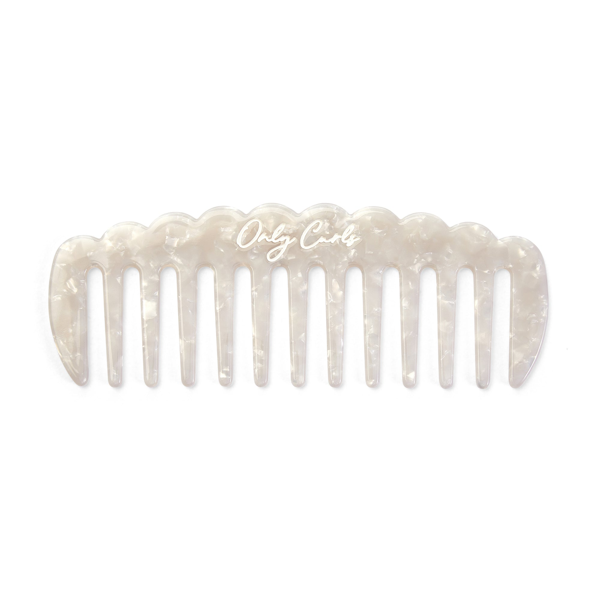 Only Curls White Shimmer Comb - Only Curls