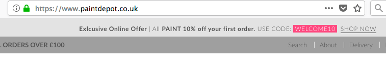 www.paintdepot.co.uk - DISCOUNT CODE