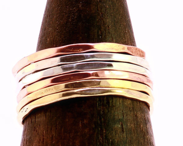 Mixed Metal Stacking Rings Set