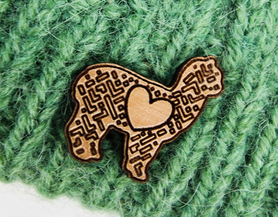 LOVE Alpaca Pin