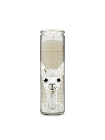 Tall Alpaca Cathedral Candle