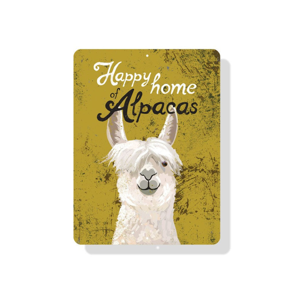 """Happy Home of Alpacas"" Sign"