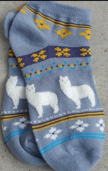 Fuzzy Fun Alpaca Cotton Socks (Kids/Adults Small)