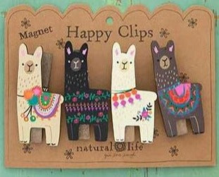 Magnetic Alpaca Happy Chip Clips