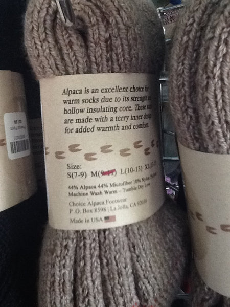 Super-warm Alpaca Socks