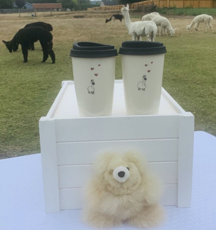 Alpaca Love Ceramic Pint Mug w/ Lid