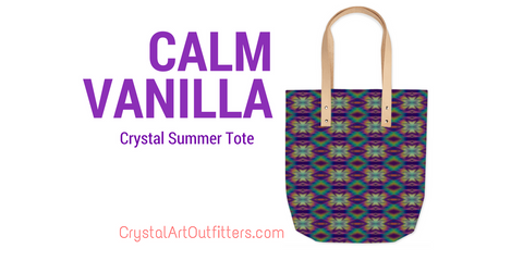Calm Vanilla Crystal Summer Tote by Crystal Art Outfitters