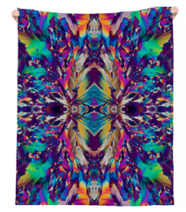 Crystal Color Splash Linen Beach Throw by Crystal Art Outfitters
