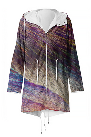 Feathers and Fur Crystal Raincoat - Crystal Art Outfitters