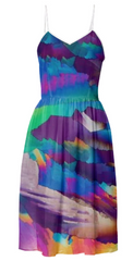 Flowing Crystals Summer Dress by Crystal Art Outfitters