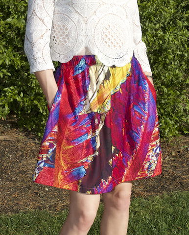 Paradise Breeze Crystal Summer Skirt by Crystal Art Outfitters - Spring/Summer 2017 Collection