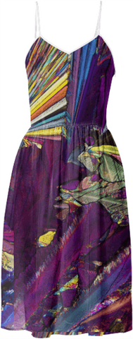 Psychedelic Crystal Summer Dress by Carol Roullard of Crystal Art Outfitters