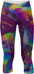 Wild Splash Crystal Yoga Pants by Crystal Art Outfitters