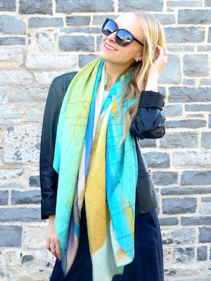 Anna of STRUCKBLOG CAO Ambassador in Light and Cool Crystal VIP Silk Scarf