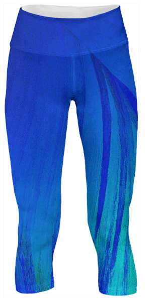 Blue Flame Crystal Yoga Pants