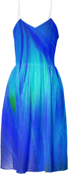Blue Flame Crystal Summer Dress