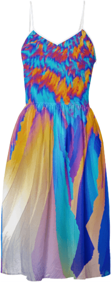 Ice Phoenix Crystal Summer Dress