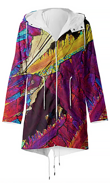 Paradise Blush Crystal Raincoat