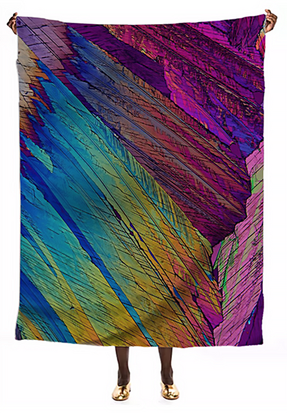 Parrot Feathers Crystal VIP Silk Scarf