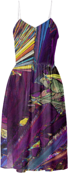 Psychedelic Crystal Summer Dress