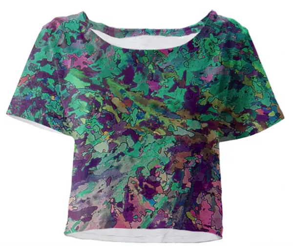 Springtime Garden Crystal Crop Top