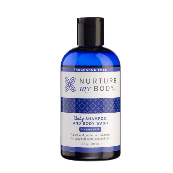 Fragrance Free Baby Shampoo and Body Wash Sulfate Free by Nurture My Body