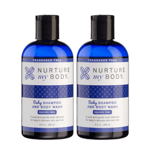 Fragrance Free Baby Shampoo and Body Wash Sulfate Free 2 Pack by Nurture My Body
