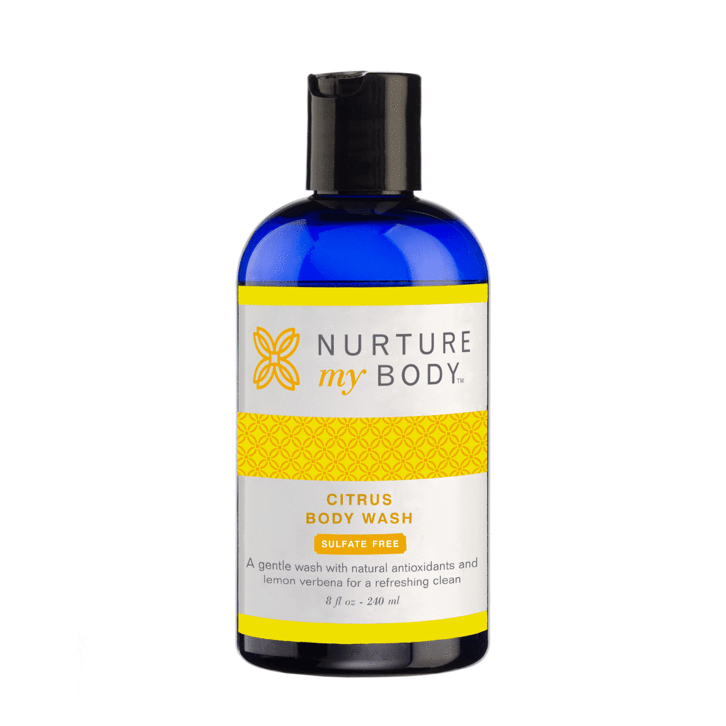 Citrus Body Wash Sulfate Free No Synthetic Fragrances by Nurture My Body