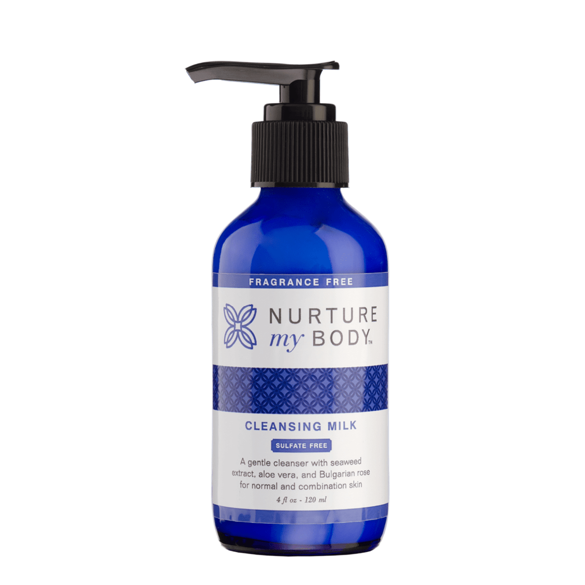 Fragrance Free Cleansing Milk sulfate free natural cleanser by Nurture My Body