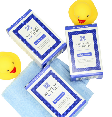 Baby Bar Soap 3 Pack with Palm, Coconut, and Olive Oils