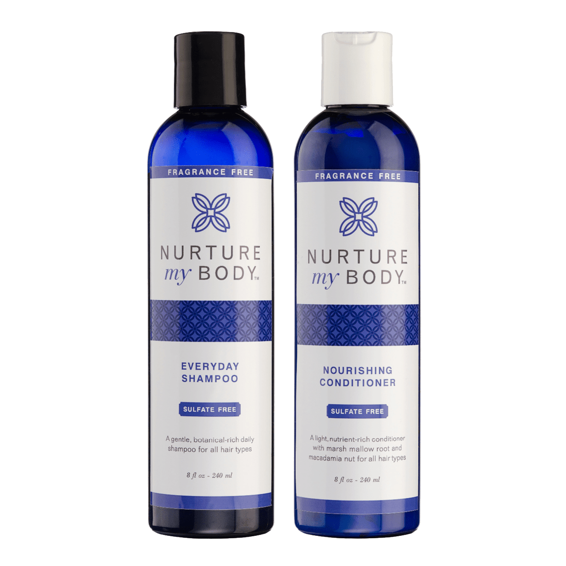 Fragrance Free Everyday Shampoo Sulfate Free and Fragrance Free Nourishing Conditioner Sulfate Free by Nurture My Body