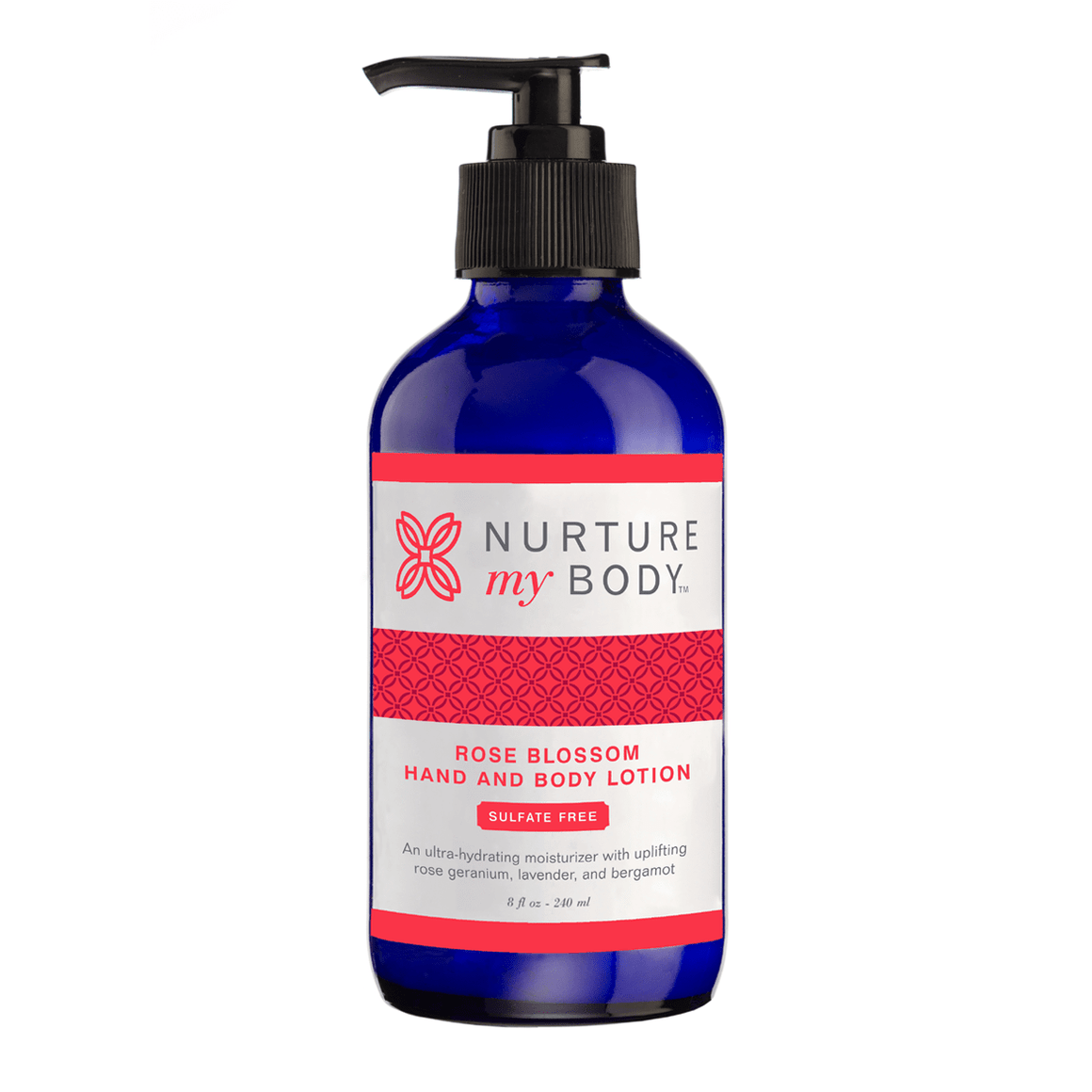 Rose Blossom Hand and Body Lotion by Nurture My Body